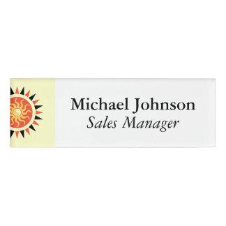 Yin yang sunshine name tag