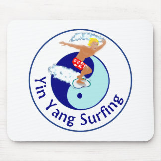 yin yang surfing mouse pad