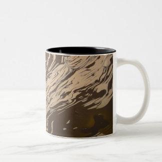 """""""Yin Yang Swirl"""" Two-Tone Coffee Mug"""