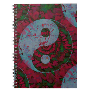 Yin Yang Symbol Art Spiral Notebook