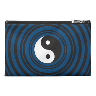 Yin Yang Symbol Blue Concentric Circles Ripples Travel Accessories Bag