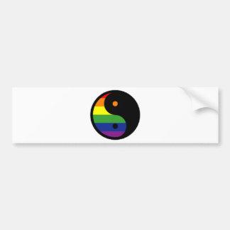 Yin-Yang-Symbol-Rainbow Bumper Sticker