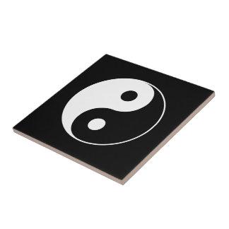 Yin Yang Symbol Small Square Tile