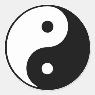 Yin Yang Symbol: Round Sticker