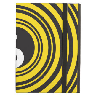 Yin Yang Taijitu symbol Yellow Black Ripples Cover For iPad Air
