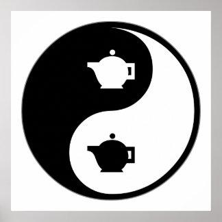 Yin Yang Tea Poster