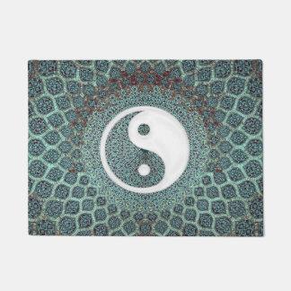Yin Yang Teal Doormat