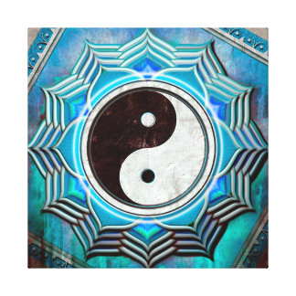 Yin Yang - the healing blue Chakras Canvas Print