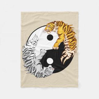 Yin & Yang Tigers Fleece Blanket