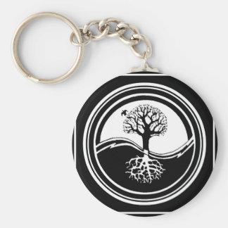 Yin Yang Tree Key Ring