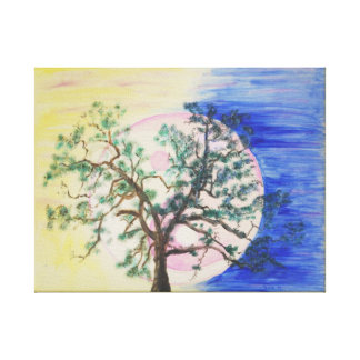 Yin Yang Tree of Life canvas print