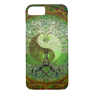 Yin Yang Tree of Life Green iPhone 8/7 Case