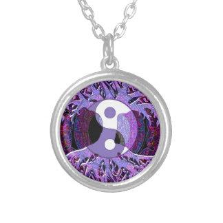Yin Yang Tree of Life Purple Pendants