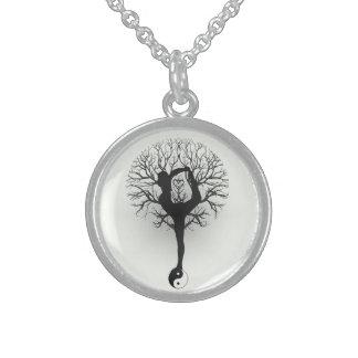 Yin Yang, Tree of Life, Yoga, Harmony, Balance Sterling Silver Necklace