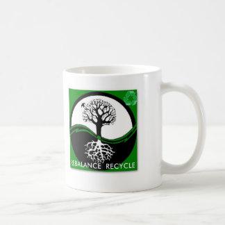 Yin Yang Tree Rebalance Recycle Coffee Mugs
