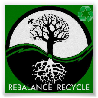 yin yang tree recycle poster from 14.95