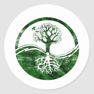 Yin Yang Tree Round Stickers