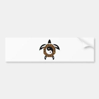yin-yang-turtle bumper sticker