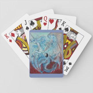 Yin Yang Unicorn and Dragon Playing Cards