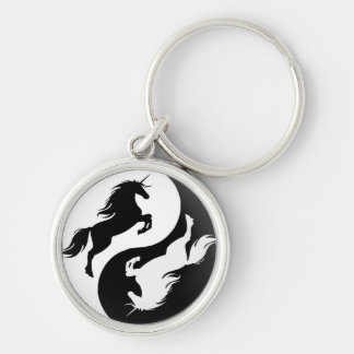 Yin Yang Unicorn Key Chain