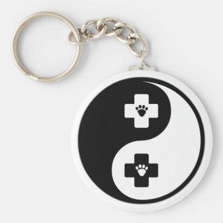 Yin Yang Veterinary Medicine Key Ring