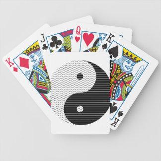 Yin Yang Waves Bicycle Playing Cards
