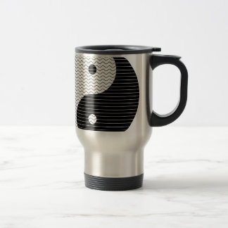 Yin Yang Waves Travel Mug