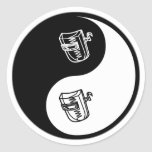 Yin Yang Welding Round Sticker