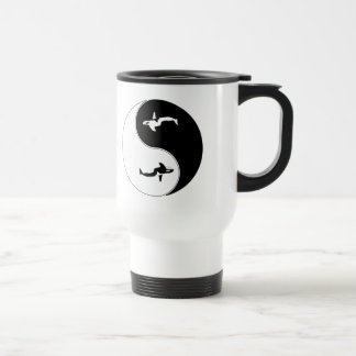 Yin Yang Whale Travel Mug