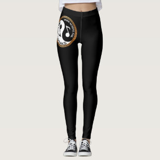 Yin Yang with music words Leggings