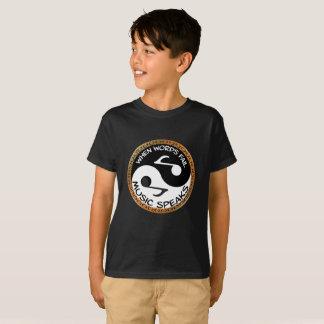 Yin Yang with music words T-Shirt