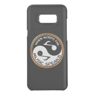 Yin Yang with music words Uncommon Samsung Galaxy S8 Plus Case