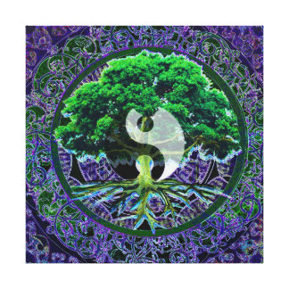 Yin Yang with Tree of Life Canvas Print