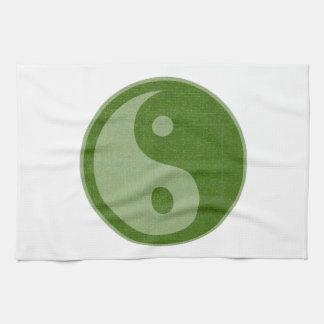 YIN YANG YINYANG GREEN KITCHEN TOWELS