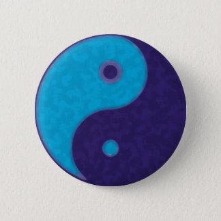 yin yang zen meditation tao 6 cm round badge