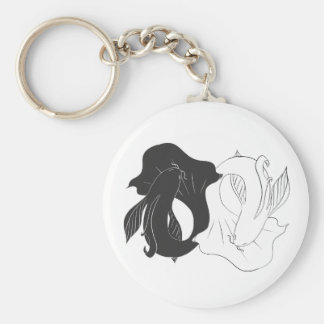 Ying and Yang koi Key Ring