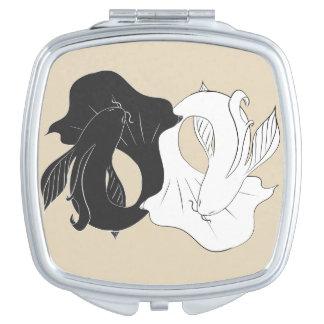 Ying and Yang koi Makeup Mirror