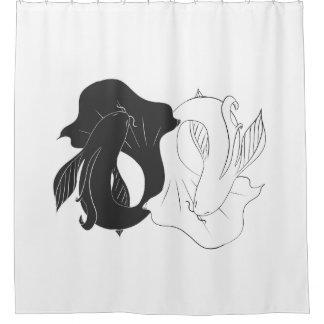 Ying and Yang koi Shower Curtain