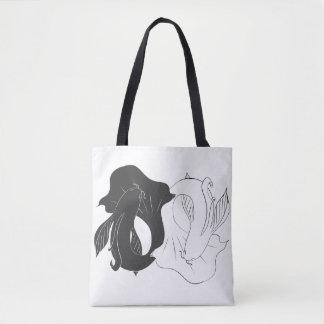 Ying and Yang koi Tote Bag