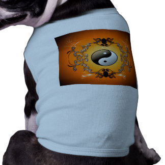Ying and yang, two complementary principles of Chi Doggie Tee Shirt
