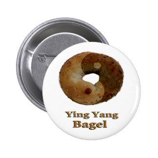 Ying Yang Bagel Pinback Buttons