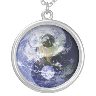 Ying & Yang Earth Silver Plated Necklace