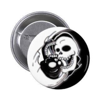 Ying Yang Grim Reaper Buttons