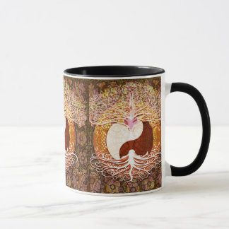 Ying Yang Heart Tree of Life Mug