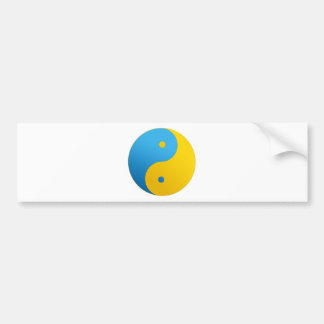 Ying Yang - in Ukrainian Style Bumper Sticker