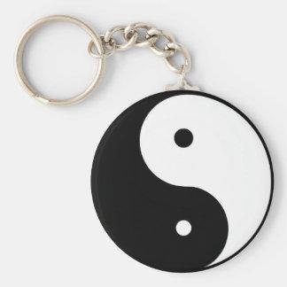 Ying & Yang Key Chain. Basic Round Button Key Ring