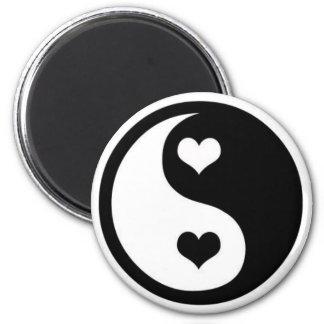 Ying Yang Love 6 Cm Round Magnet