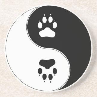 Ying Yang Paw Print Coaster
