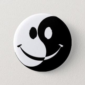 Ying / Yang Smiley 6 Cm Round Badge