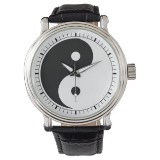 ying yang symbol watch